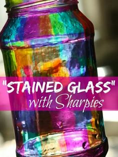 Sharpie markers and glass...luminary idea