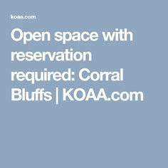 Open space with reservation required: Corral Bluffs Colorado Springs, Space, Display