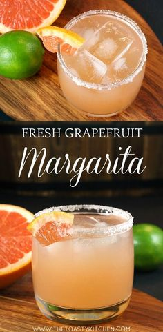 Fresh Grapefruit Margarita is a light and refreshing alcoholic beverage that is easy to make at home. Made with fresh-squeezed grapefruit and lime juices. Grapefruit Vodka Cocktails, Tonic Cocktails, Grapefruit Margarita Recipe, Grapefruit Recipes, Tequila Drinks, Margarita Recipes, Cocktail Drinks, Cocktail Recipes, Margarita Tequila