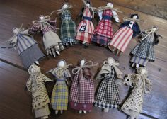 26. After finished clothespin dolls
