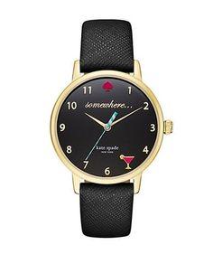 It's happy hour somewhere... – KATE SPADE NEW YORK KSW1039 Metro Goldtone Stainless Steel Watch