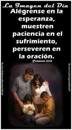 """29 de enero de 2015 - """"Alégrense en la esperanza, muestren paciencia en el sufrimiento, perseveren en la oración"""". Romanos 12:12 #LaImagendelDia"""