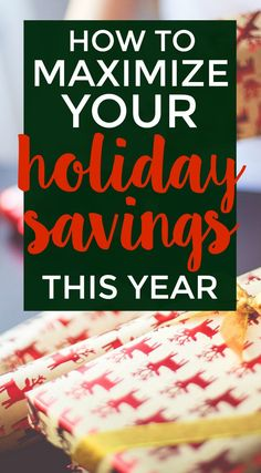 Ready to save money this holiday season? Living a frugal lifestyle? Did you know you can make money while saving, too? Here's how.