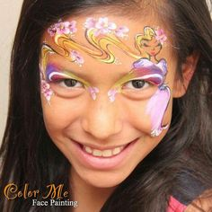 Vanessa Mendoza princess face painting design