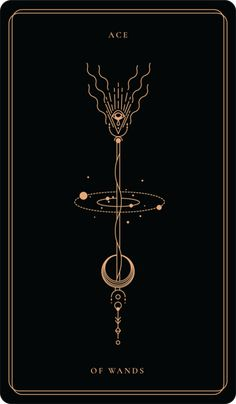 Ace of Wands Tarot Tattoo, I Tattoo, The Moon Tarot Card, Symbolic Tattoos, Book Of Shadows, Geometric Art, Sacred Geometry, Tarot Cards, Tattoo Inspiration