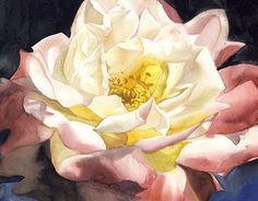 Summer Rose Painting - Summer Glow by Alfred Ng Large Scale Art, Extra Large Wall Art, Watercolor Rose, Watercolor Paintings, Paintings For Sale, Original Paintings, Entryway Art, Glow Paint, Summer Glow