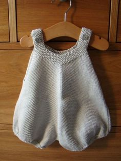 "Knitted bubble onesie / romper suit (""Barboteuse""), inspiration photo only… Knitting For Kids, Baby Knitting Patterns, Crochet For Kids, Baby Patterns, Free Knitting, Crochet Baby, Knit Crochet, Baby Outfits, Kids Outfits"