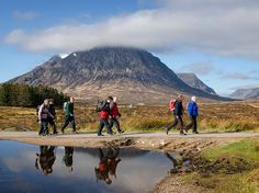 Photo: Hikers on the West Highland Way trail, Scotland