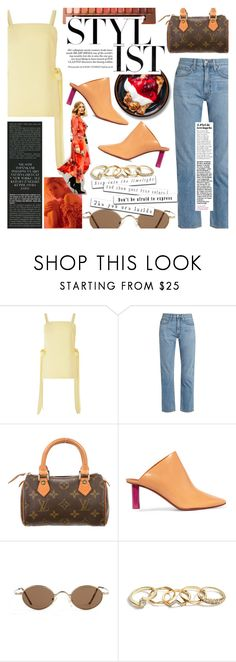 """Spring Rewind"" by chocohearts08 ❤ liked on Polyvore featuring Cult Gaia, Brock Collection, Louis Vuitton, Vetements and GUESS"