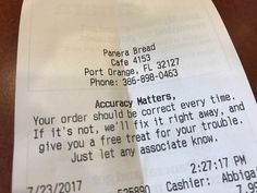 Panera Bread, Customer Engagement, Hospitality, Customer Service, Personalized Items, Customer Support