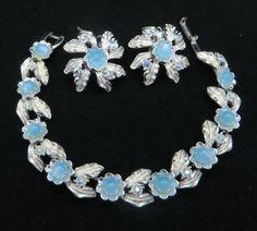 Judy Lee Bracelet & Earring Set Vintage Sky by LeesVintageJewels
