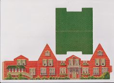 Toys and Stuff: Vintage Cardboard 2-Story House with Wall