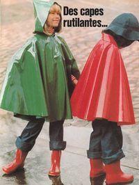 """encyclopédie """" les doigts d'or"""" année 70, free pattern,, cape de pluie enfant"""