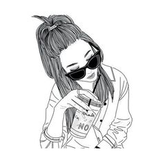 74 best hipster girl drawing images in 2018 Hipster Girl Drawing, Tumblr Girl Drawing, Hipster Drawings, Tumblr Drawings, Cute Drawings, Drawing Sketches, Girl Drawings, Pencil Drawings, Easy Sketches