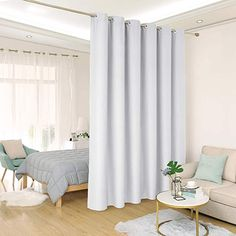 Deconovo Privacy Room Divider Curtain Thermal Insulated Blackout Curtains Screen Partition Room Darkening Panel for Shared Bedroom, Wide x Tall 1 Panel Beige Curtain Partition, Room Divider Curtain, Deco Studio, Studio Room, Bedroom Divider, Bedroom Decor, Patio Door Curtains, Room Partition Designs, Thermal Curtains