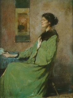 Women in Painting by Thomas Wilmer Dewing (1851-1938) ~ Blog of an Art Admirer