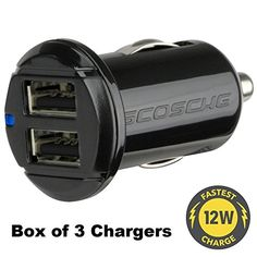 Scosche reVOLT 12W 12W Dual USB Car Charger (12 Watts x 2 Ports) (Box of 3) ** Read more reviews of the product by visiting the link on the image.