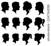 Profile silhouettes set download page