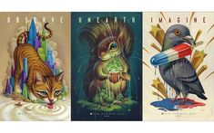 Buzelli's riff on the iconic subway series is surreal and employs his trademark love of animals.