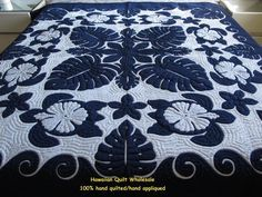 Hawaiian quilt-Sea Turtles-Monstera-Hibiscus-Plumeria