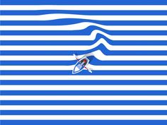 Out to sea designed by Joe Jordan for JK Design. Connect with them on Dribbble; Art And Illustration, Graphic Design Illustration, Design Poster, Ui Design, Affinity Designer, Mont Saint Michel, Out To Sea, Grafik Design, Sculpture Art