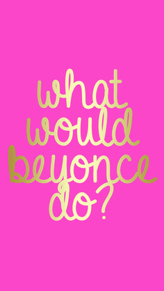 cupcakes & saltwater: what would beyonce do?