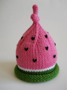 Knitted Infant Hat Newborn Baby Watermelon Hat
