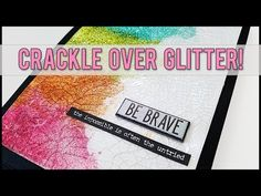 (3) Art Journal Technique → Crackle Over Glitter | Mixed Media Art Journal With Me - YouTube