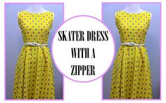 Skater Dress Tutorial I turned a maxi skirt into a cute summer dress. #yellowdress #summerdress