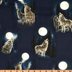 Online Shopping for Home Decor, Apparel, Quilting & Designer Fabric Wolf Moon, Wolf Howling, Sewing Projects, Quilts, Baby, Quilt Sets, Baby Humor, Log Cabin Quilts, Infant