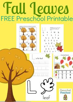 This week's Friday Freebie is a 25-page Fall Leaves preschool printable! Little ones can practice their ABC's and 123's with a fun fall theme!