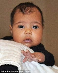 West shared the first glimpse of North when she was 10 weeks old Kardashian Family, Kardashian Jenner, Dash Dolls, Kris Jenner, Jenners, North West, Grandkids, Cute Babies, Little Girls