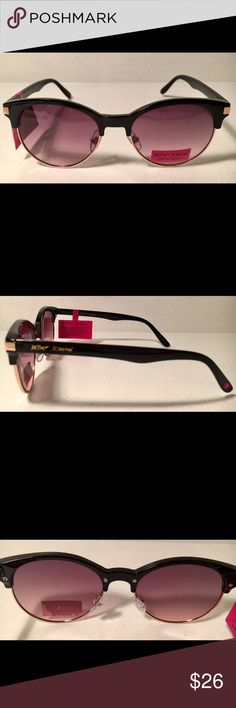 NEW Betsey Johnson Retro Style Sunglasses You are going to love these retro style sunglasses by Betsey Johnson. Measures 55 mm x 19 mm x 135 mm, lens color: smoke gradient, 100% UV protection, NEW with tags. Betsey Johnson Accessories Sunglasses