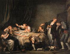 Le diptyque de la Malédiction paternelle : 1. Le Fils ingrat (1777, huile sur toile, 130 cm x 162 cm, Louvre) et 2. Le Fils puni (1778 huile sur toile 130 cm x 162 cm, Louvre)