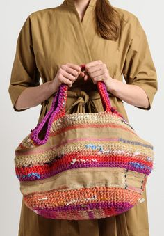 Daniela Gregis Crochet Tote in Natural