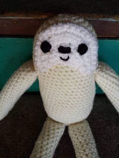 This is a wonderful crocheted doll inspired by the Grimbly Gunk from the show The Walking Dead. Eugenes new stuffed friend. This is a pattern that I developed myself from referencing the image from the show. Grimbly Gunk is about 14 and 1/2 inches tall. Each doll made will be unique and will closely match the photos in this listing.  Please contact me if you would like your Grimbly to be a different color.  Please message me before buying to make sure how long it will take to make your n...