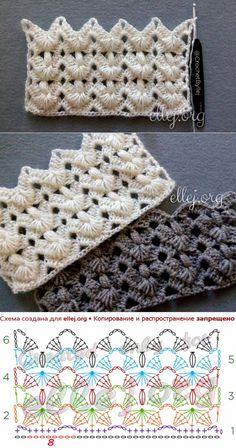 Crochet Bedspread Pattern, Crochet Motifs, Crochet Diagram, Crochet Stitches Patterns, Crochet Chart, Knitting Patterns, Crochet Bunny, Love Crochet, Crochet Lace