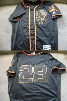 Baseball Shirts and Jerseys 181336: San Francisco Giants 2016 Buster Posey Black Jersey Xl -> BUY IT NOW ONLY: $49.99 on eBay!