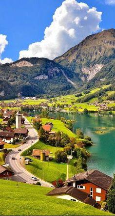 The village of Lungern - Switzerland