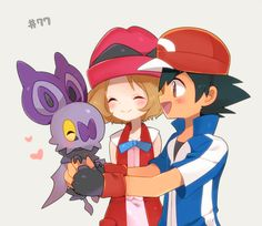 Amourshipping with Ash's Noibat ^.^ ♡ I give good credit to whoever made this 👏 Pokemon Ships, Pokemon Fan Art, Cute Pokemon, Pokemon Go, Pokemon Poster, Pokemon Stuff, Sawyer Pokemon, Pokemon Ash And Serena, Pikachu