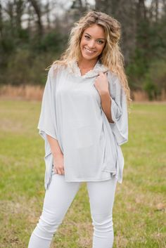 """""""Hidden Details Top, Cool Gray"""" 