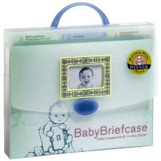 Baby Briefcase Baby Paperwork Organizer, Mint/Periwinkle Baby