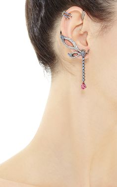 Double Dangle Ear Cuff by Wendy Yue for Preorder on Moda Operandi