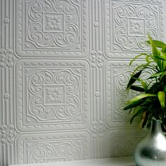 Brewster Home Fashions Anaglypta Paintable Turner Tile Textured Wallpaper