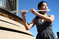 Flautist Li Chloe Chung, 20 years, performing at the Sydney Opera House. #spotlightonstars