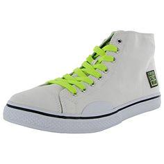 19e140529eb Vision Street Wear Womens Canvas Hi Skate Shoe White   Yellow Solid