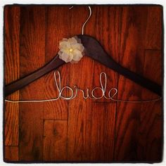 Bridal hanger bride with handmade flower by kdamstra on Etsy, $15.00