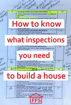 How to know what inspections you need to build a house. What inspections you need before you pour your foundation.