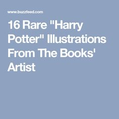 """16 Rare """"Harry Potter"""" Illustrations From The Books' Artist"""