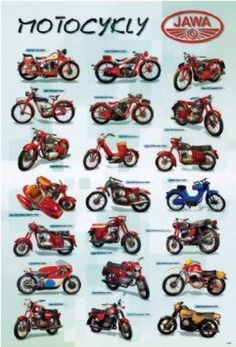 #motorcycle #motorcycle #poster Motorcycle Posters, Motorcycle Design, Bike Design, Moped Scooter, Vespa, Moto Jawa, Jawa 350, Antique Motorcycles, History Posters